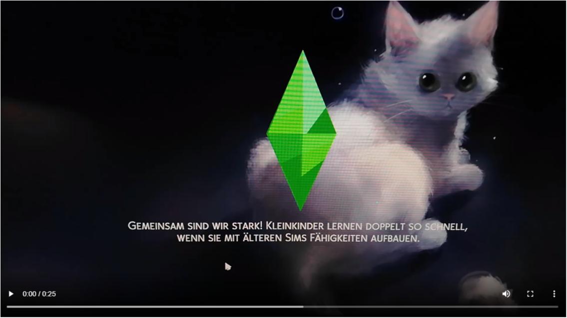 Loading screen white cat