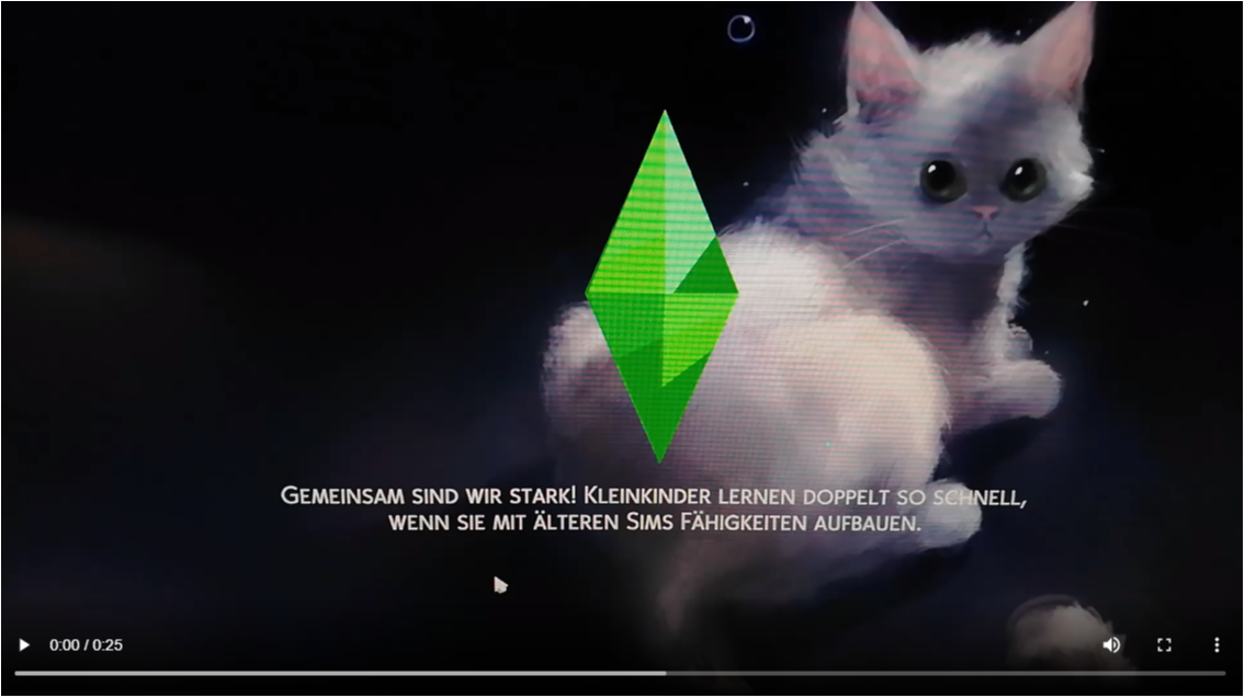 Loading screen white cat