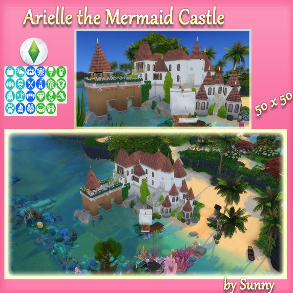 3465-arielle-the-mermaid-castle-png